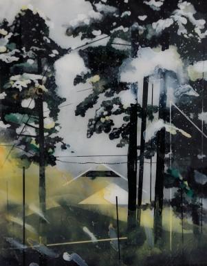 11_RODOLOSSE_Muriel,paysage toxique,peinture inversée sous Plexiglas,-2016,65x48cm