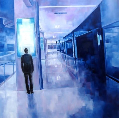 Les Divergents 8, huile sur toile 120x120,2017 300dpi