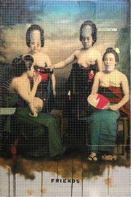 FRIENDS 100x150 cm olio su tela 2018